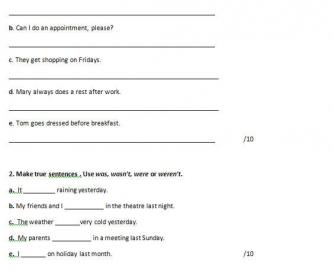 English for Life Pre-Intermediate Test