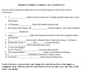 Present Perfect Simple vs Present Perfect Progressive