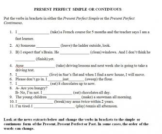 Present Perfect Simple vs Present Perfect Progressive