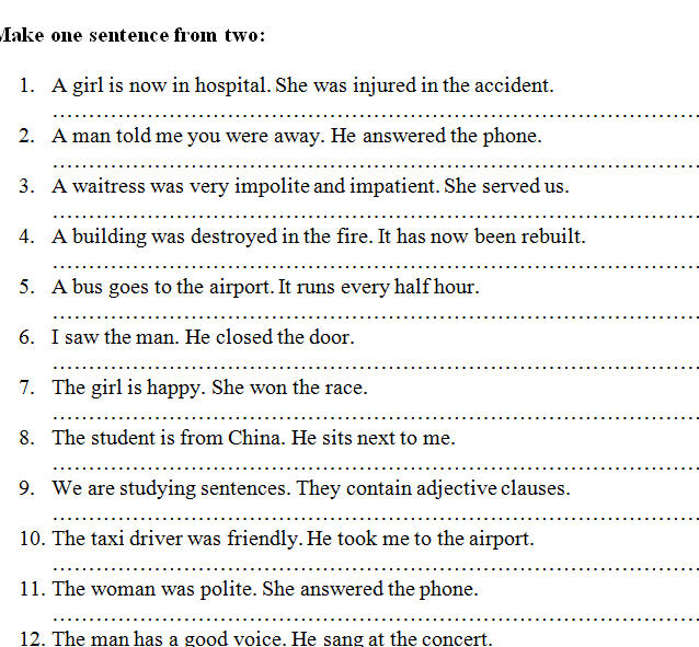 Worksheet Clauses Worksheet relative clauses worksheet