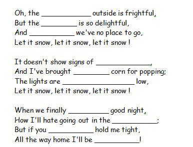 Worksheet: Let It Snow by Frank Sinatra