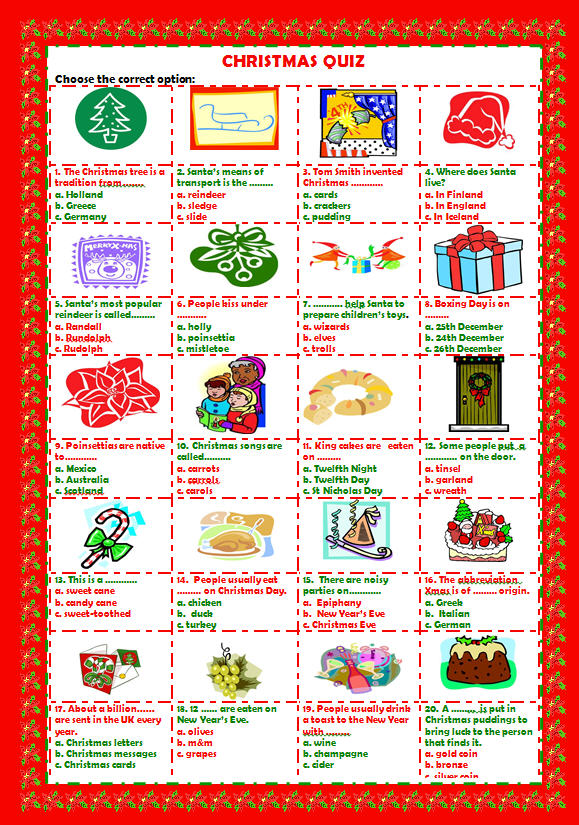 Christmas Trivia Pdf.Christmas Quiz