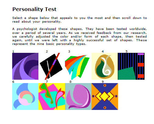 picture about Personality Tests Printable titled Individuality Look at