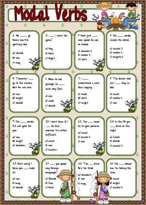 Modal Verbs: Multiple Choice Activity