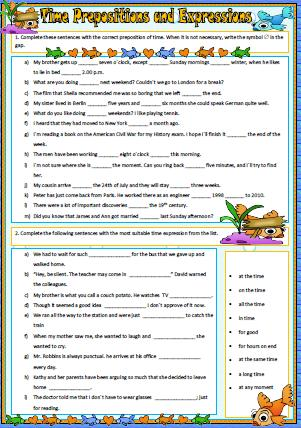 Free Worksheets » Worksheets With Time Expressions - Free Math ...