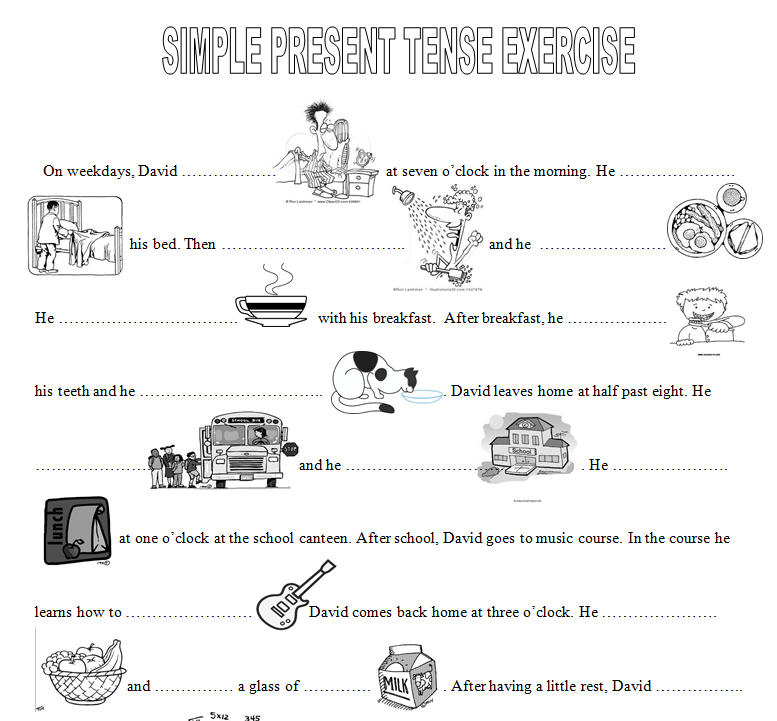 Simple Present Tense Worksheets - Mmosguides