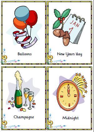 New Year Flashcards