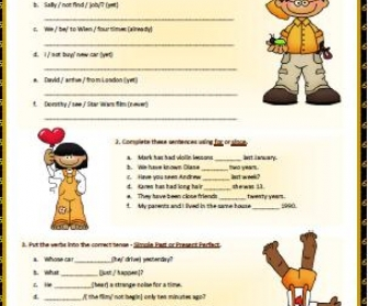Past Simple and Present Perfect Worksheet