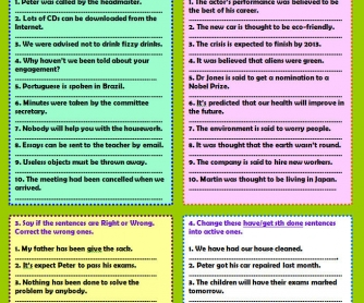 Passive To Active: Transformation Worksheet