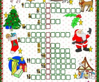 Christmas Picture Crossword
