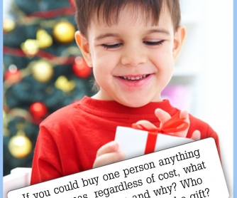 If You Could Buy One Person Anything For Christmas... [CREATIVE WRITING PROMPT]