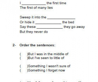 Song Worksheet: This Is The Last Time by Keane