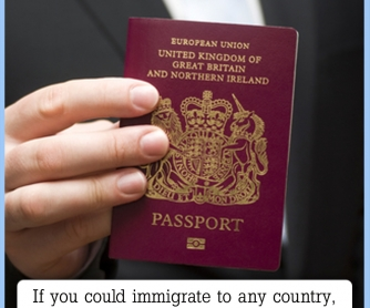 If You Could Emigrate To Any Country... [CREATIVE WRITING PROMPT]