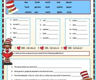 Compound Nouns Worksheet