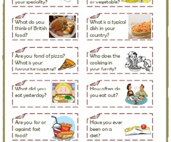 Eating Habits Speaking Cards