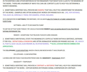 Context Clue Notes