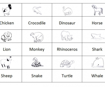 Animals: Memory Game