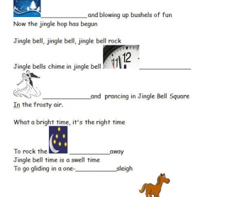 Song Worksheet: Jingle Bell Rock [WITH VIDEO]