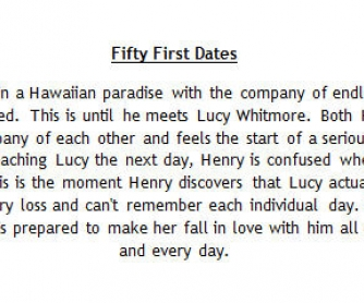 Movie Worksheet: Fifty First Dates