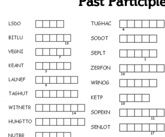 Find the Past Participles!