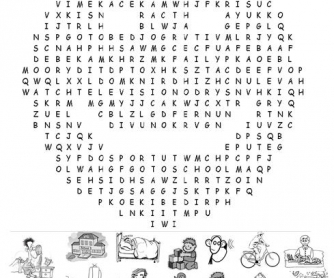 Verb Phrases Word Search