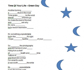 Song Worksheet: Time of Your Life by Green Day
