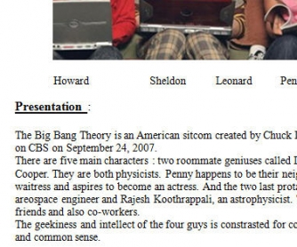Movie Worksheet: The Big Bang Theory Episode 1 Season 1.