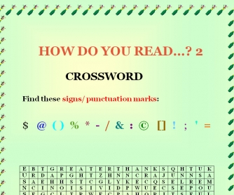 How Do You Read Symbols & Punctuation? Part 2