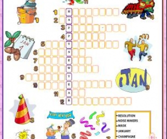 photo relating to New Year Crossword Puzzle Printable identify Refreshing Calendar year Crossword