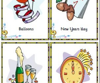 New Year Flashcards