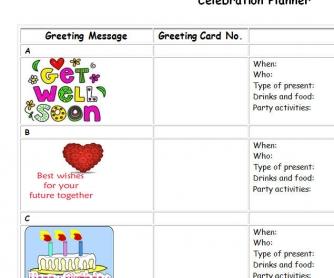 Celebrations Planner