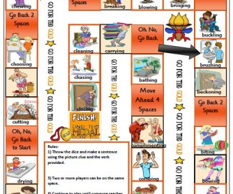 Action Verbs Boardgame