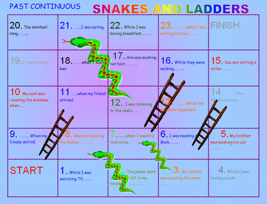 ... Simple Snakes and Ladders Board Game Snakes and Ladders, Numbers 1-20