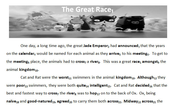 Myth of the Chinese Zodiac The