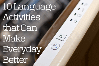10 Language Activities that Can Make Everyday Better
