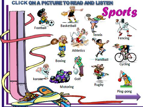 ... presentation with audio for teaching sports related vocabulary