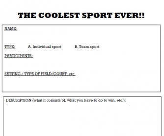 Coolest Sport Ever!