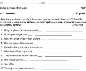 Sentences and Paragraphs