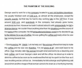 Reading: The Phantom at the Building