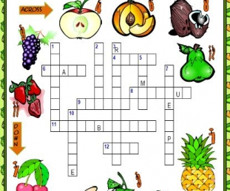 Fruits Picture Crossword