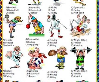 Sports Multiple Choice Activity