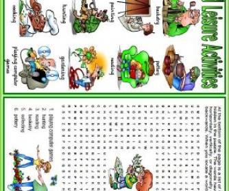 Hobbies and Leisure Activities Worksheet