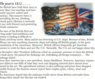 1812 War - Reading/Comp Q's/Peace Negotiation