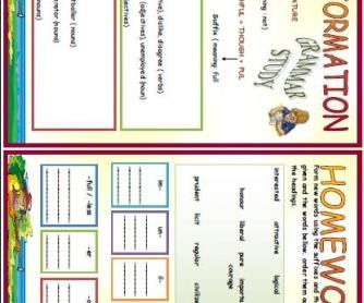 Word Formation Worksheet 2