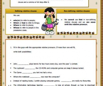 Relative Clauses Worksheet II