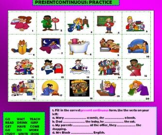 Present Continuous Practice Worksheet