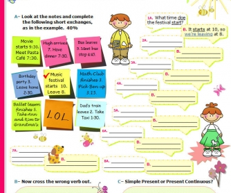 Simple Present Tense vs Present Progressive
