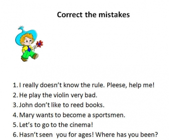 Correct the Mistakes!