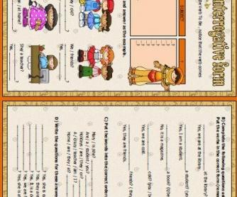 Verb To Be Interrogative Form Worksheet