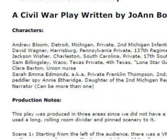 Civil War Play